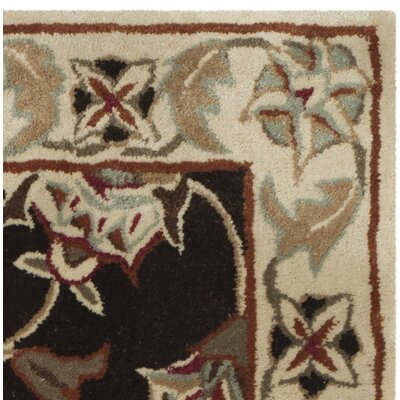 Hand-Made Brown/Beige Area Rug Rug Size: 3 x 5