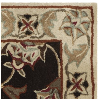 Hand-Made Brown/Beige Area Rug Rug Size: 6 x 9