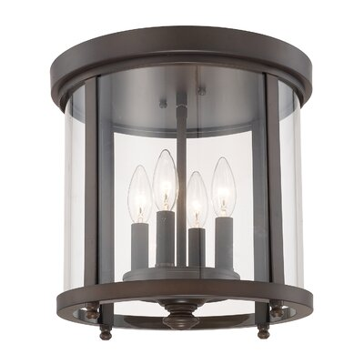 Holoman 4-Light Flush Mount Finish: Burnished Bronze
