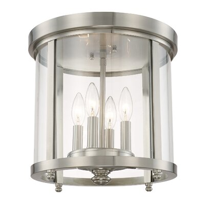 Holoman 4-Light Flush Mount Finish: Brushed Nickel