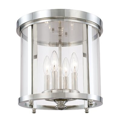 Holoman 4-Light Flush Mount Finish: Polished Nickel