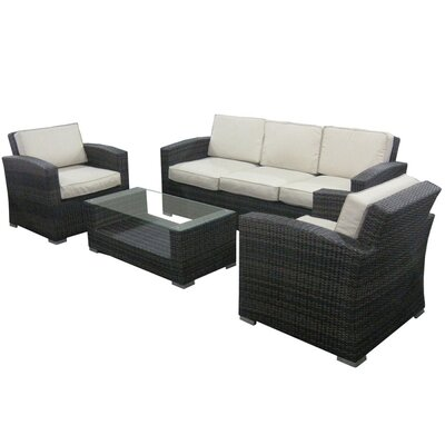 Argent 4 Piece Deep Seating Group with Cushion