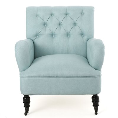 Argyle Armchair Upholstery: Light Blue