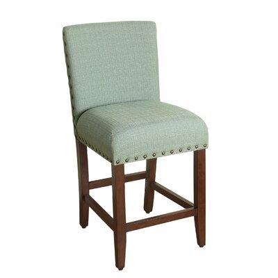 Arlene 24 Bar Stool Upholstery: Seafoam