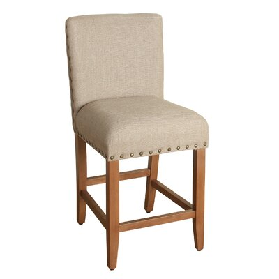 Arlene 24 Bar Stool Upholstery: Tan