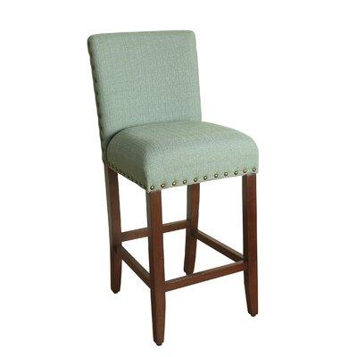 Arlene 29 Bar Stool Upholstery: Seafoam