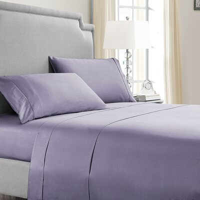 Mulhall 300 Thread Count 100% Cotton Sheet Set Size: Full, Color: Lavender