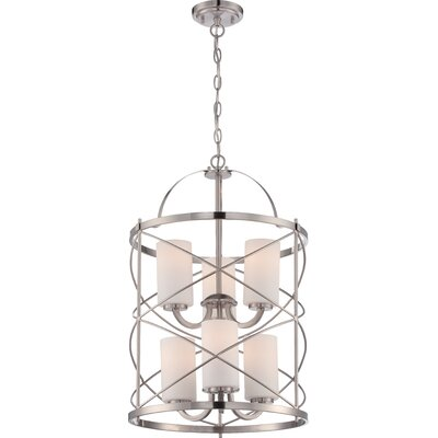 Farrier 6-Light Foyer Pendant Finish: Brushed Nickel