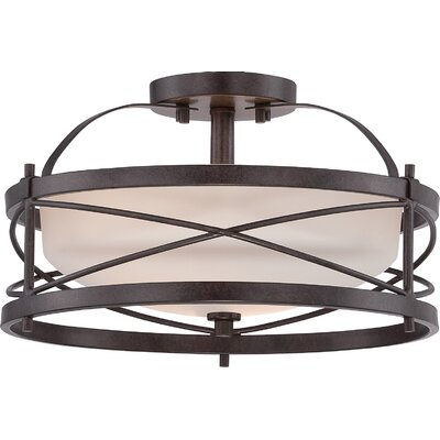 Farrier 2-Light Semi Flush Mount Finish: Old Bronze
