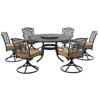 Applewood 9 Piece Dining Set with Cushions