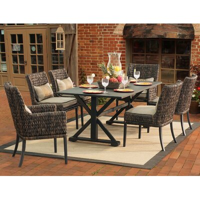 Aprea 7 Piece Dining Set with Cushions
