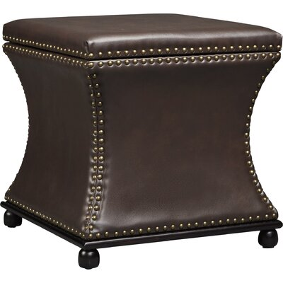 Armisen  Leather Ottoman Upholstery Color: Brown