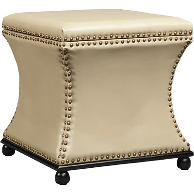 Armisen  Leather Ottoman Upholstery Color: Cream
