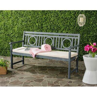 Kuhlmann 3 Seat Acacia Garden Bench Finish: Ash Gray/Beige