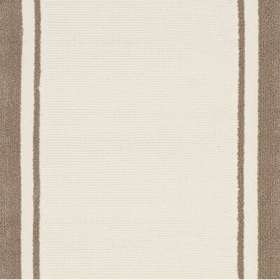 Asher Hand-Made Off Beige/Brown Area Rug Rug Size: 8 x 10