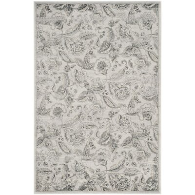 Ashford Silver/Gray Area Rug Rug Size: Rectangle 4 x 6