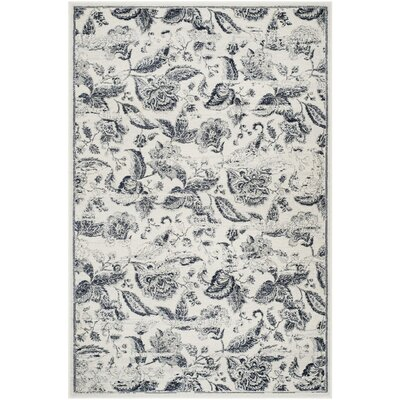 Ashford Beige/Black Area Rug Rug Size: Rectangle 4' x 6'