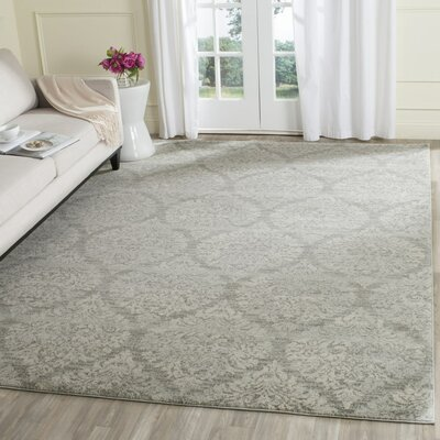 Augustus Gray/Silver Area Rug Rug Size: Rectangle 4 x 6