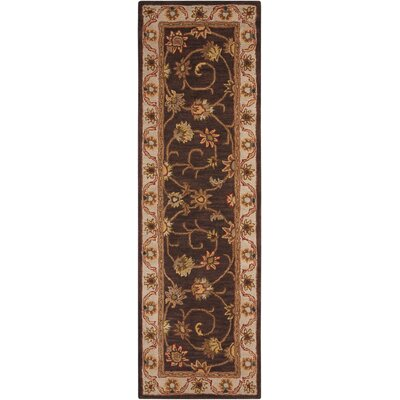 Astin Hand-Tufted Chocolate Area Rug Rug Size: 23 x 76