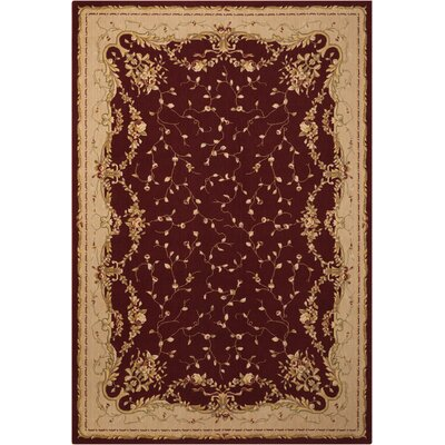 Chalet Red/Beige Area Rug Rug Size: 53 x 79