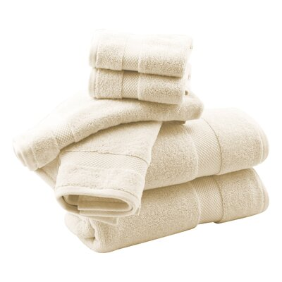 Zero Twist 6 Piece Towel Set Color: Ivory