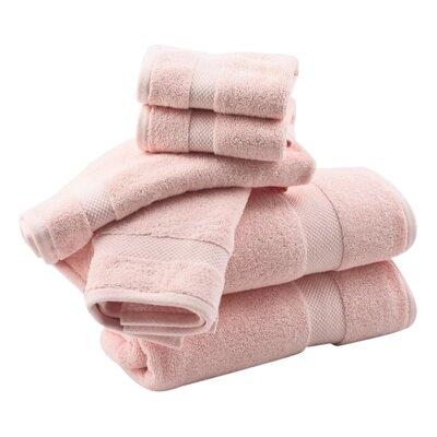 Zero Twist 6 Piece Towel Set Color: Pinky Coral