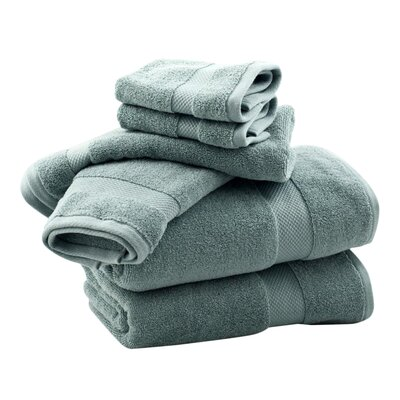 Zero Twist 6 Piece Towel Set Color: Sea Glass
