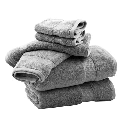 Zero Twist 6 Piece Towel Set Color: Dove