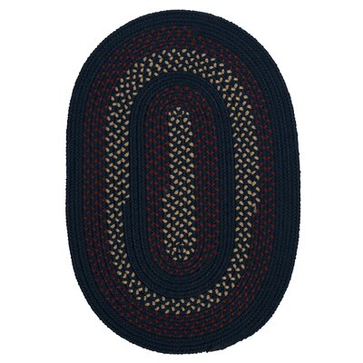 Omaha Midnight Blue Indoor/Outdoor Area Rug Rug Size: Round 6