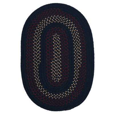 Omaha Midnight Blue Indoor/Outdoor Area Rug Rug Size: Round 10