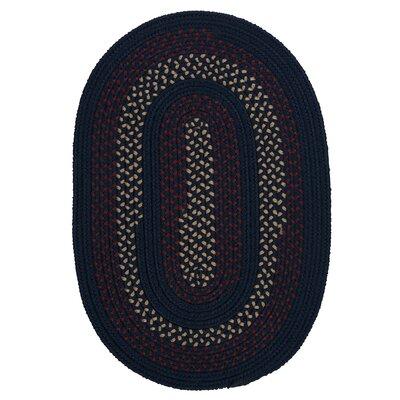 Omaha Midnight Blue Indoor/Outdoor Area Rug Rug Size: Oval 4 x 6