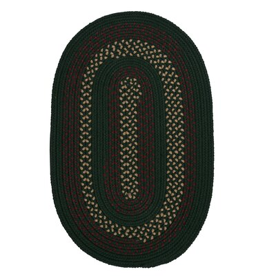 Omaha Hunter Green Indoor/Outdoor Area Rug Rug Size: Oval 3 x 5