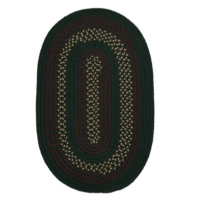 Omaha Hunter Green Indoor/Outdoor Area Rug Rug Size: Oval 7 x 9
