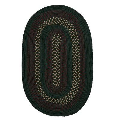 Omaha Hunter Green Indoor/Outdoor Area Rug Rug Size: Oval 3 x 5