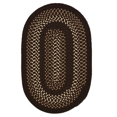 Omaha Seal Brown Indoor/Outdoor Area Rug Rug Size: Round 4