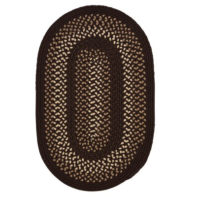 Omaha Seal Brown Indoor/Outdoor Area Rug Rug Size: Oval 4 x 6