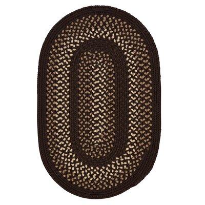 Omaha Seal Brown Indoor/Outdoor Area Rug Rug Size: Oval 5 x 8