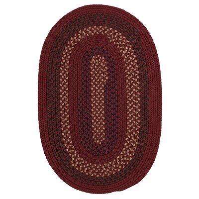 Omaha Deep Russet Indoor/Outdoor Area Rug Rug Size: Oval 5 x 8
