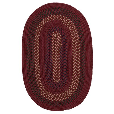 Omaha Deep Russet Indoor/Outdoor Area Rug Rug Size: Oval 7 x 9