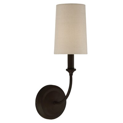 Barnaby 1-Light Wall Sconce Base Color: Dark Bronze