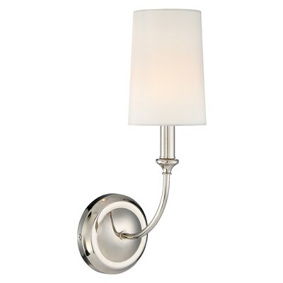 Barnaby 1-Light Wall Sconce Base Color: Polished Nickel