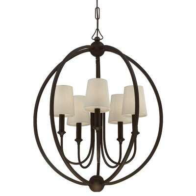 Barnaby 5-Light Globe Pendant Finish: Dark Bronze
