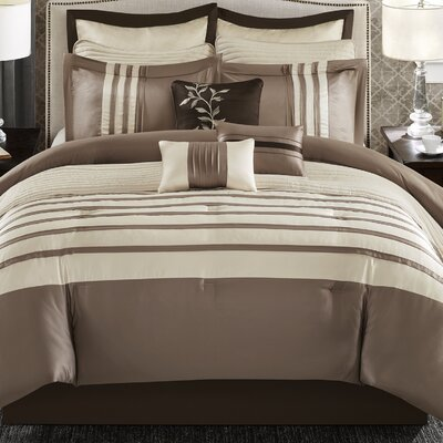 Attles 12 Piece Comforter Set Size: Queen, Color: Taupe