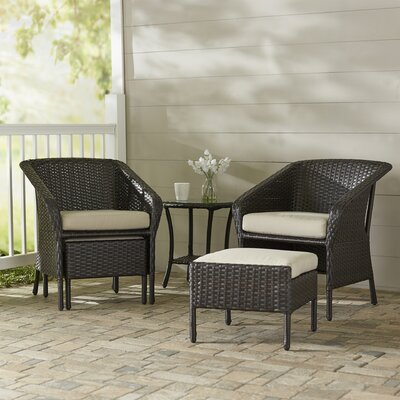 Cline 5 Piece Lounge Seating Group Set with Cushions