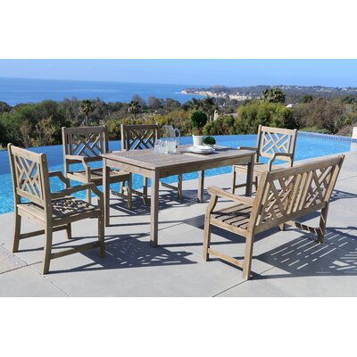 Densmore 6 Piece Dining Set Table Size: 59 L x 31.5 W x 29 H