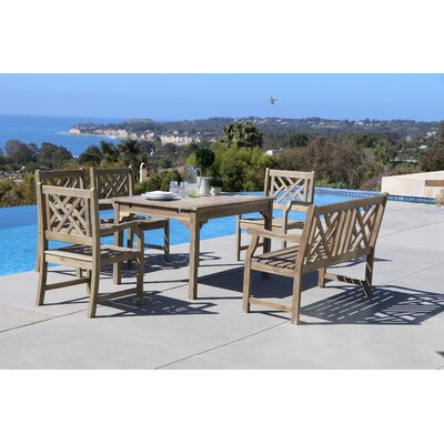 Densmore 6 Piece Dining Set Table Size: 47 L x 35 W x 29 H