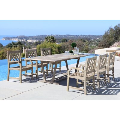 Densmore 7 Piece Dining Set Table Size: 91 L x 39 W x 29 H