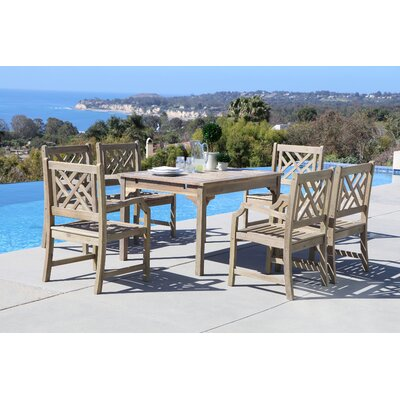 Densmore 7 Piece Dining Set Table Size: 47 L x 35 W x 29 H