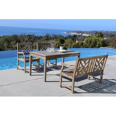 Densmore 4 Piece Dining Set Table Size: 59 L x 31.5 W x 29 H