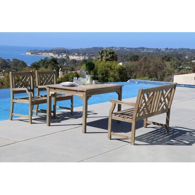 Densmore 4 Piece Dining Set Table Size: 47 L x 35 W x 29 H